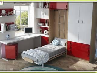 cama vertical abatible: Dormitorios de estilo  de Muebles Parchis. Dormitorios Juveniles.