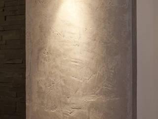 Wohnraum-Wandgestaltung mit Marmorputz: moderne Esszimmer von Einwandfrei - innovative Malerarbeiten oHG