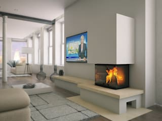 Kago Wärmesysteme GmbH Living roomFireplaces & accessories