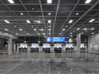 Flughafen Frankfurt Hochbau A-West, 2012:  Flughäfen von Conceptlicht GmbH