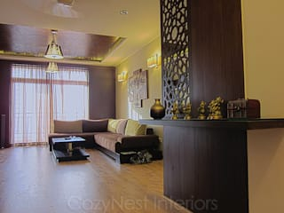 Jha Residence Cozy Nest Interiors Modern Living Room
