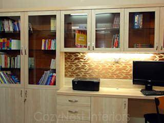 Ramaiyan Residence. Modern Study Room and Home Office by Cozy Nest Interiors Modern