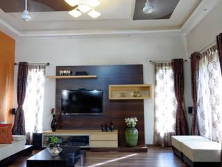 Jaya & Rajesh Modern Living Room by Cozy Nest Interiors Modern