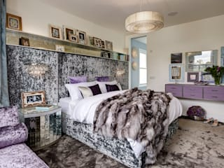 Boho House in Barnes with a Touch of Dazzle: eclectic Bedroom by White Linen Interiors Ltd