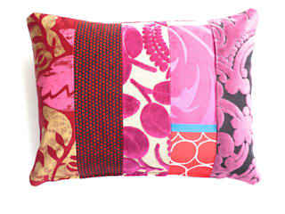 Ariagny luxury patchwork cushion:   by Suzy Newton Ltd.