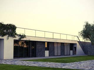 Ampliamento di edificio residenziale in località punta Aspera, Varazze (SV) Case in stile minimalista di dedalo s.r.l. Minimalista