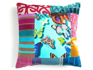 Belle luxury patchwork cushion:   by Suzy Newton Ltd.