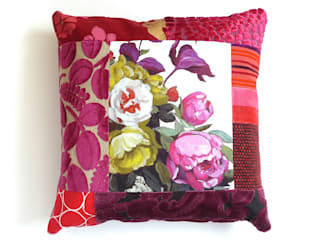 Hermione luxury patchwork cushion:   by Suzy Newton Ltd.
