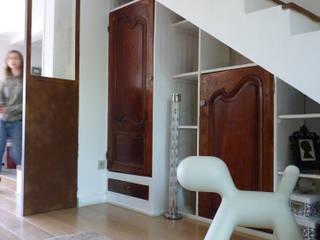 Création d'une verrière d'intérieur à Toulouse (31) Audrey Ardalan Couloir, entrée, escaliers industriels