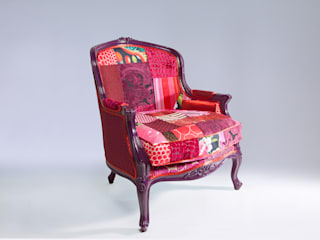 Louis luxury patchwork tub chair:   by Suzy Newton Ltd.