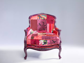Suzy Newton luxury patchwork seating: eclectic  by Suzy Newton Ltd., Eclectic