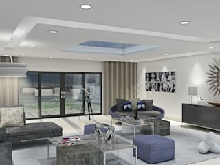 Villa by the sea: modern Living room by Outsourcing Interior Design