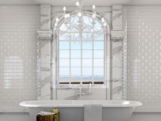 Classic bathroom 3d visual Bathroom by homify
