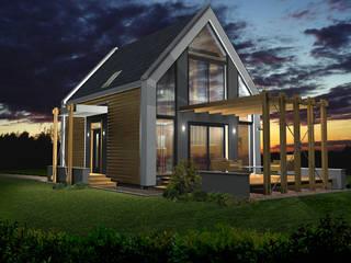 """projekt domu jednorodzinnego """"Delta"""": styl , w kategorii Domy zaprojektowany przez DOMuSniechowskich"""