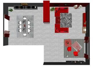 La zona pranzo in soggiorno di Studio di Progettazione e Interior Design Cinzia Simonini