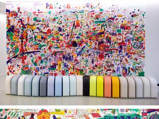 Grande fresque de Paris - Centre Pompidou par Omy