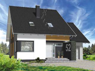 """projekt """"Dedal"""": styl , w kategorii Domy zaprojektowany przez DOMuSniechowskich"""