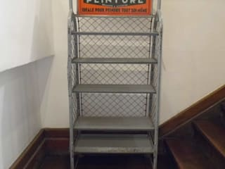 Vintage Industrial Rack Travers Antiques Living roomStorage