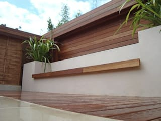 Built in seating & benches:   by Paul Newman Landscapes
