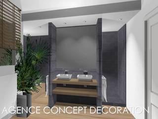 salle de bains ZEN: Salle de bains de style  par agence concept decoration