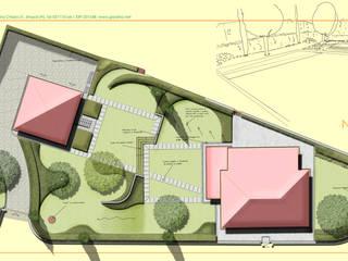 due giardini in uno:  in stile  di Studio Progetto & Giardino