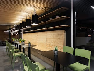 Restaurantes de estilo  por Nan Arquitectos, Rústico