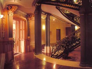 REHABILITACION PALACIO LONGORIA Oficinas y tiendas de estilo ecléctico de ESF estudio santiago fajardo Ecléctico