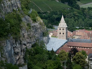 Coverage of archaeological ruines of the abbey of St-Maurice の savioz fabrizzi architectes