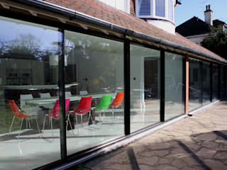Burdon Lane Modern dining room by IQ Glass UK Modern