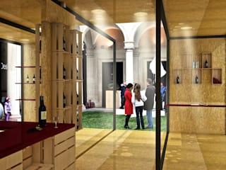 Wine Temporary Pavillion:  in stile  di Studio Hub - Officina Creativa