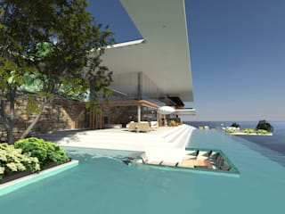 ULUWATU HOUSE Basen od Guz Architects