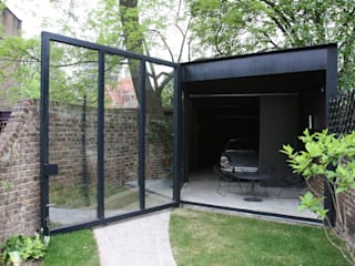 Canonbury Square IQ Glass UK Modern garage/shed