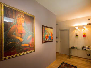 隨意取材風玄關、階梯與走廊 根據 davide pavanello _ spazi forme segni visioni 隨意取材風