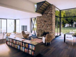 Isola House - living room 모던스타일 다이닝 룸 by Haag Architects 모던