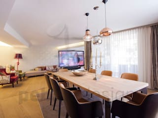 Kalkan Dublex Residential Modern Yemek Odası Pebbledesign / Çakıltașları Mimarlık Tasarım Modern