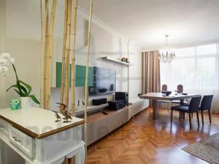 Görgülü Apartment/Akatlar Modern Oturma Odası Pebbledesign / Çakıltașları Mimarlık Tasarım Modern