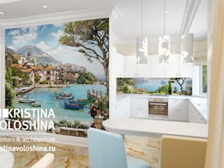Дом в Королеве Кухня в средиземноморском стиле от kristinavoloshina Средиземноморский