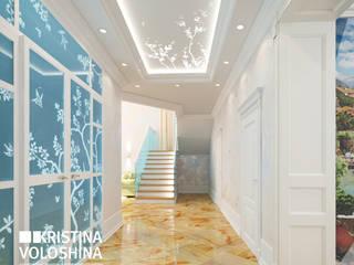 Дом в Королеве Коридор, прихожая и лестница в средиземноморском стиле от kristinavoloshina Средиземноморский