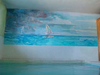 """Finca """"El Hamam"""" de mural x 3 Mediterráneo"""
