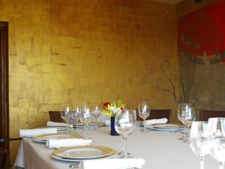 Restaurante emblemático de mural x 3 Mediterráneo