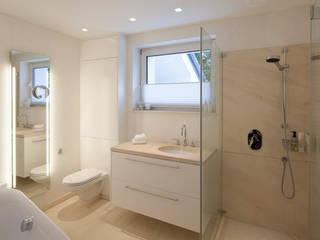 Marmorputz trifft Naturstein Klassische Badezimmer von Einwandfrei - innovative Malerarbeiten oHG Klassisch
