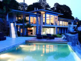 Aldo Rampazzi Studio di Architettura Balcon, Veranda & Terrasse modernes