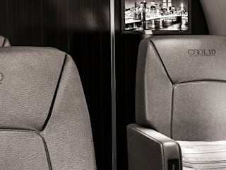 Aviation Yates y jets de Celia Sawyer Luxury Interiors