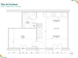 Plan de l'existant:  de style  par Angèle Ethuin - Designer d'intérieur & Coloriste