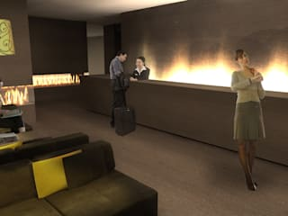 Hotéis modernos por TIBERIO CERATO Moderno