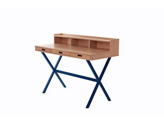 Desk Hyppolite color blue marine - Design Florence Watine for brand Harto de La Corbeille Éditions Moderno