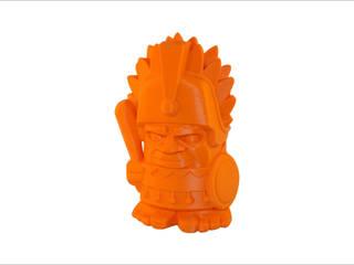3D-print of an Aztec chief:   door MyMatics