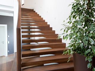 Floating stairs designed for commercial projects Siller Treppen/Stairs/Scale Tangga Kayu Brown