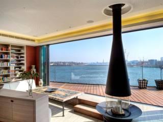 Penthouse im Stadthafen Moderne Wohnzimmer von baustudio kastl Modern