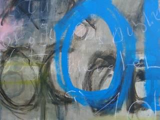 """Titre """"Agenda"""". Acrylique, mine graphite sur toile 2014. 80X100 :  de style  par Mae Azzopard"""